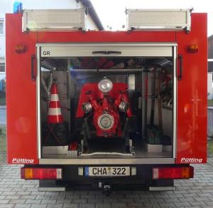 Tragkraftspritzenfahrzeug TSF_Heck
