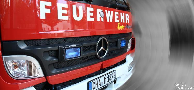 Einsatz 29 / 2020 Brand Dachgeschosswohnung Stadt Cham