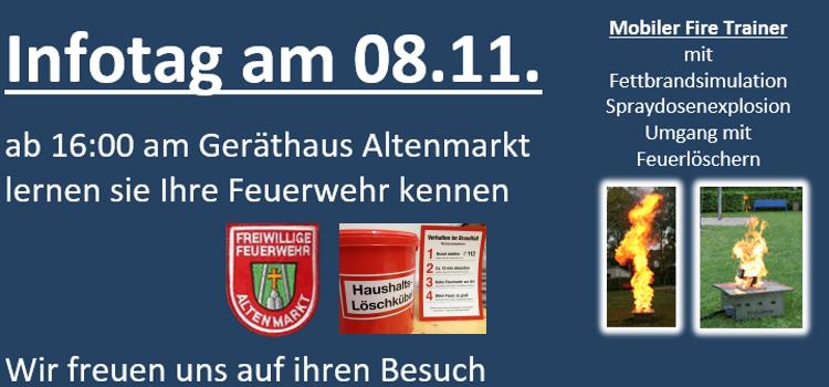 Infotag am 08.11. ab 16:00