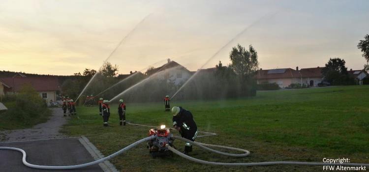 Gemeinschaftsübung in Schorndorf