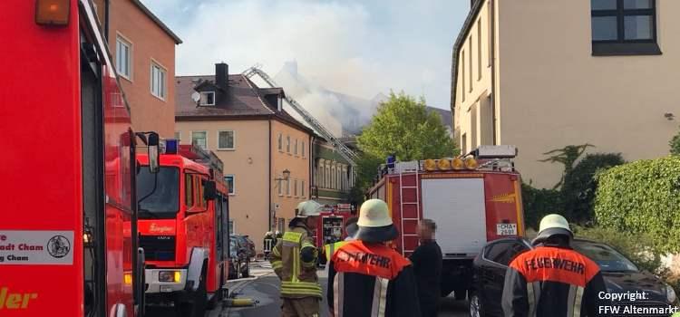 Wohnhausbrand Cham Propsteistraße Beitragsbild