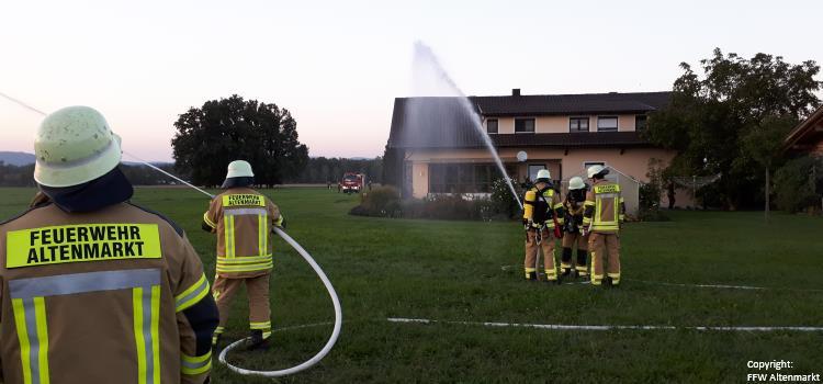 Übung Feuerwehraktionswoche 2018