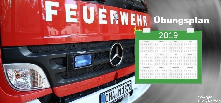 Übungsplan FFW Altenmarkt 2019 Beitragsbild