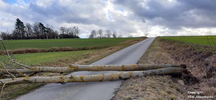 """Einsatz 11 – 13 / 2020 Unwetter  Sturm """"Sabine"""""""