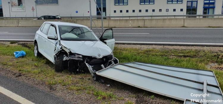 Einsatz 24 / 2020 Verkehrsunfall B85