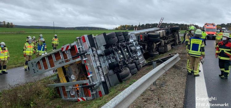 Einsatz 46 2020 Verkehrsunfall LKW Beitragsbild