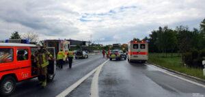 Einsatz 19 2021 Schwerer Verkehrsunfall B85 - Geisterfahrer (5)