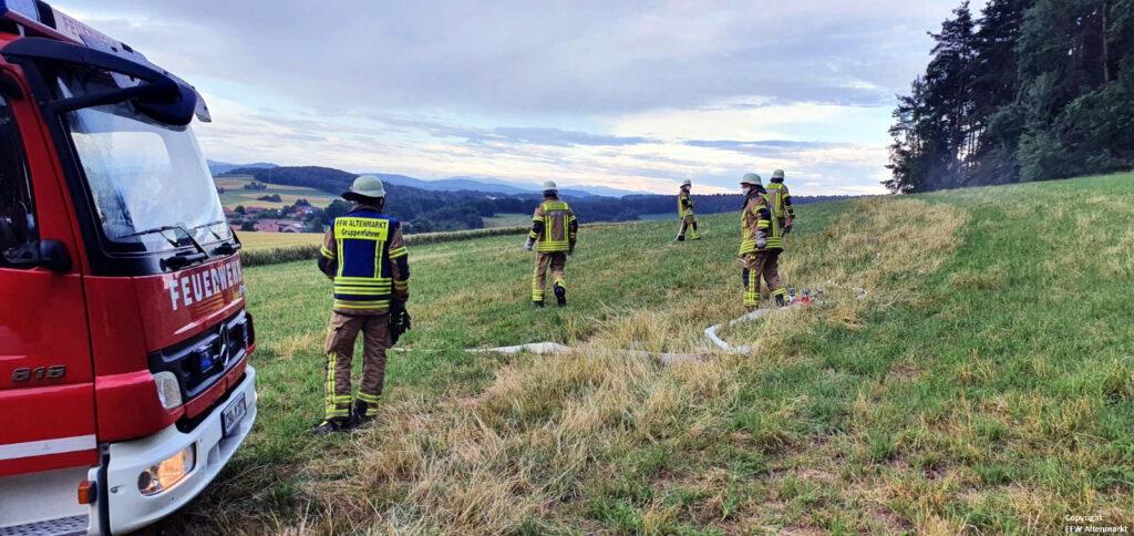 Waldbrand - Gemeinschaftsübung Penting (1)