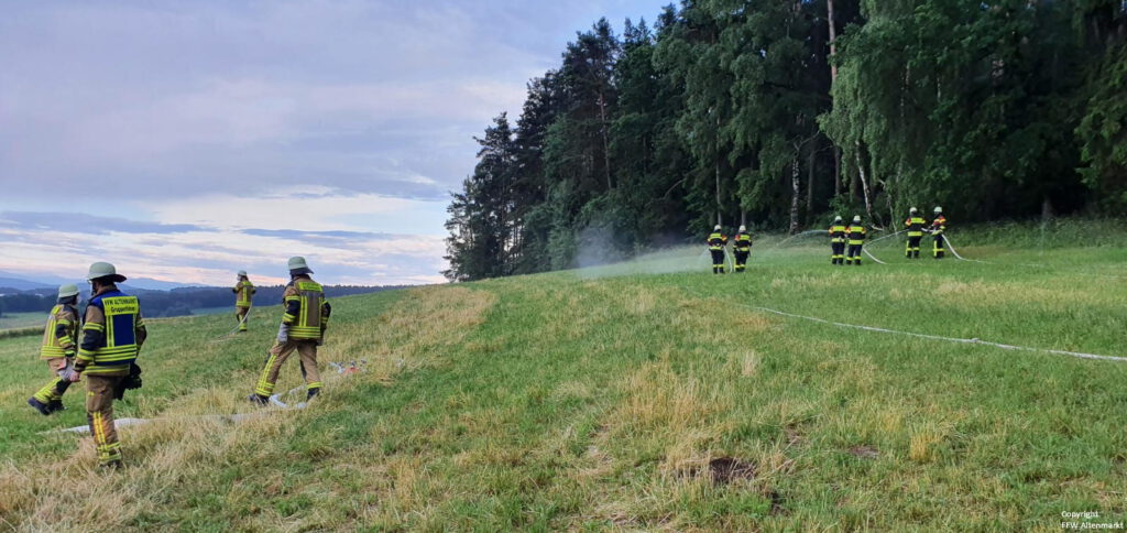 Waldbrand - Gemeinschaftsübung Penting (2)