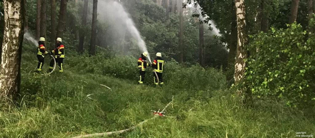 Waldbrand - Gemeinschaftsübung Penting (5)