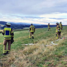 Waldbrand - Gemeinschaftsübung Penting Gemeinschaftsübung